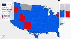 Interactive Obama vs. Romney Twitter map
