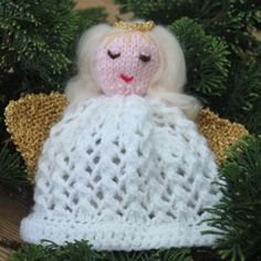 Knitted angel - Make a knitted Christmas angel - Craft - allaboutyou.com