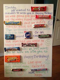 Candy Birthday Card for Daddy.