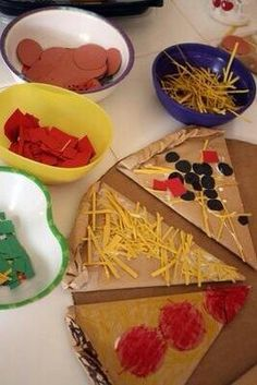 Pizza: Fun idea for a sequencing activity: helping kids understand the following concepts: first, before, after, and last, etc.