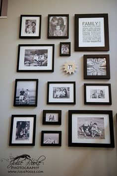 Closer view of Chanda's photo wall. Many of these are done by me :)