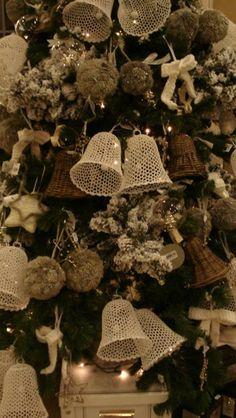 Mooie brocante kerstboom