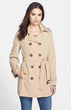 Calvin Klein Double Breasted Trench Coat (Online Exclusive) | Nordstrom