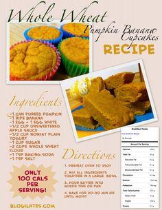 Healthy Pumpkin Banana Muffin Recipe