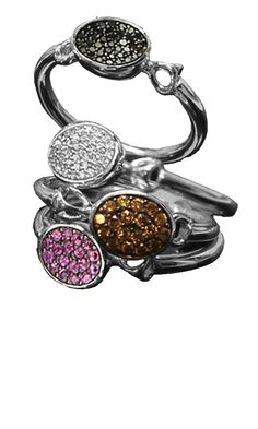 New Stack-able pave Lolita rings