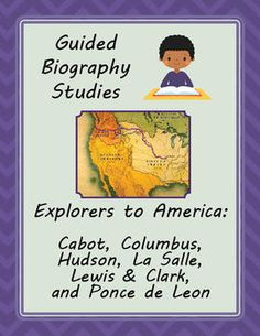 Guided Biography Study Set of 6 Explorers to America