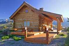 log cabin in Montana-Honey, unpack our bags because I am home!!!
