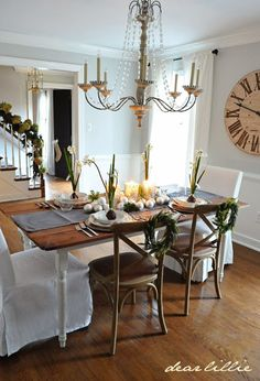 Beautiful dining room is part of this home tour