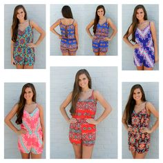 Rompers galore! Cousin Couture adores all these cute play-suits!