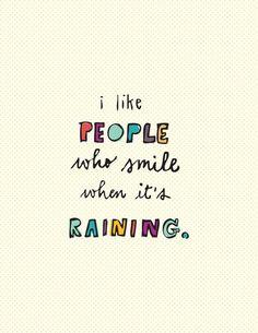 i like people who...