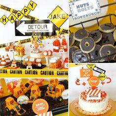 Construction birthday party theme.