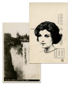 Audrey Horne postcard by Paul Willoughby.  From In the Trees: Twin Peaks 20th Anniversary Art Exhibition