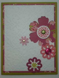 FLORAL FANTASY handmade Stampin Up card. $2.50, via Etsy.