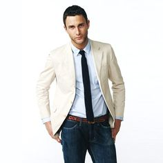 No Jeans! Well okay, Maybe! While jeans have become very stylish and dressy, it is often asked: can you wear jeans as business casual fashion style, men cloth, men fashion, men's clothing, style men, man fashion, dress styles, business casual, sport coats