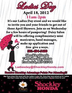 Shockley #Honda Ladies Day - April 2012 #Cars #M2W