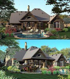 Cottage House Plan ID: chp-49218 - COOLhouseplans.com. Awesome backyard