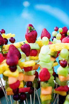 Fruit skewer appetizers