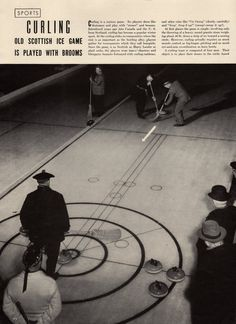1941 magazine article on Curling Scottish Ice by catchingcanaries, $8.00