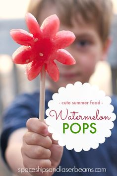 Watermelon on a Stick - Great Healthy Idea for Kids Party Food... or Just Summer Fun