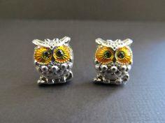 Puffed Owl Earrings by IrisJane on Etsy, $7.75