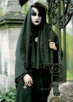 German goth girl Susi in the cemetery, 1989 †