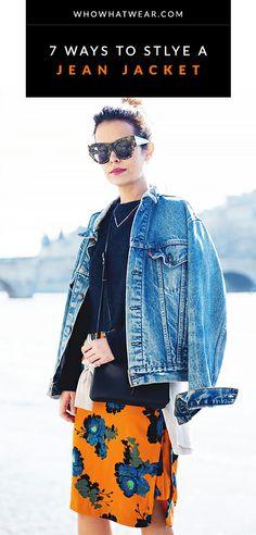Chic ways to wear a jean jacket // #denim #style