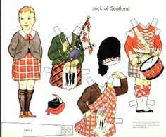 Dolls of Many Lands paper doll. Jock of Scotland