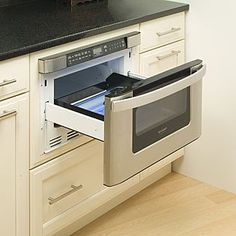 Drawer style microwave