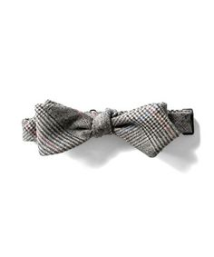 Todd Snyder charcoal wool pointed bowtie
