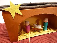 Tissue Box nativity craft for kids. Advent activity