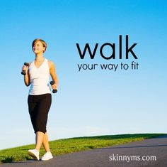 From high knees to calf raises, try a walking workout to achieve weight loss success! #workout #weightloss
