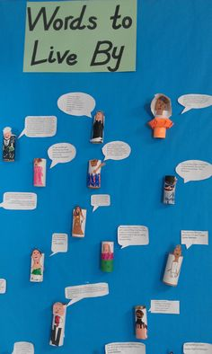Biography tube characters with quotes. This would be good for the Historical Figures we learn about in third grade.