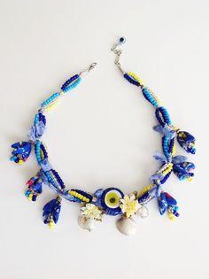 FreeShipping BlueTurkish Evil Eye Necklace by ANATOLIANDESIGN01, $29.50