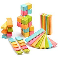 Kid-friendly (6 months & up) 52 piece blocks set with internal magnets.