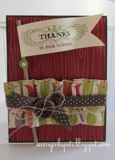 Stampin' Up! Fall  by Elizabeth Price at Seeing Ink Spots