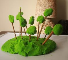 Play dough forest...