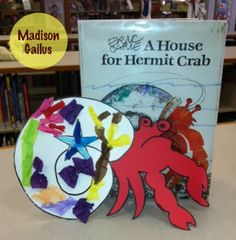 Eric Carle. Storytime. Book and Craft. Library. Hermit Crab.