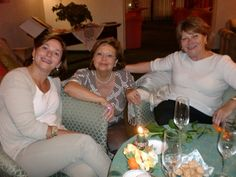 Alberge Al Moretto owner Luciana Rigato (center) greets Sarasota Sister Cities members Susanna & Silvana Wriston with a Prosecco reception in Castlefranco