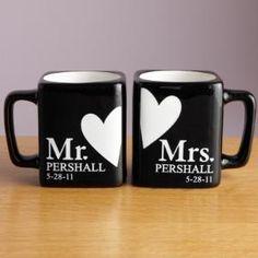 """Mr. and Mrs. Black Mug Set"""