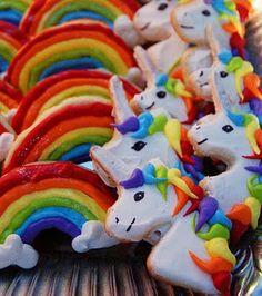 Rainbow ponies