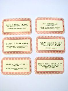 advent calendar activity cards - love