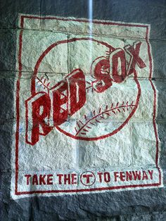 At the Fenway T stop