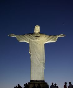 Cristo Redentor (Christ the Redeemer) is a statue of Jesus of Nazareth in Rio de Janeiro, Brazil; considered the largest Art Deco statue in the world and the 5th largest statue of Jesus in the world. It is 130 ft tall, including its 31 ft pedestal & 98 ft wide. It weighs 700 tons & is located at the peak of the 2,300 ft Corcovado mountain in the Tijuca Forest National Park overlooking the city. It was constructed between 1922 and 1931.