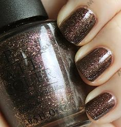 OPI - Holiday Glow    #opi #brown #glitter