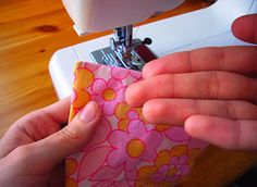 How to sew perfect corners.