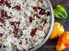 Jamaican Red Beans and Rice... The coconut milk really gives this rice a rich & creamy taste. It went great with some Mango salsa & Pork Loin for my latest dinner party and was one of the first things to quickly disappear!