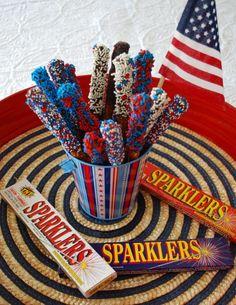 Patriotic Dipped Pretzels