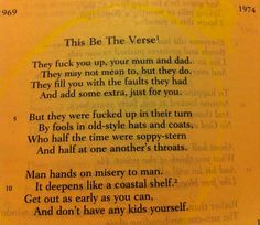 This Be the Verse by Philip Larkin (poem)