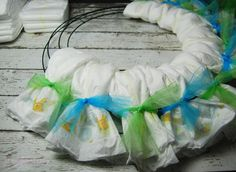 Baby Diapers Wreath Tutorial | The TipToe Fairy #BabyDiapersSavings #CollectiveBias #shop #diaperwreath #babygift #tutorial