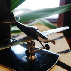 Decorate with unique #decor such as this #airplane at #Mecox #Chicago #interiordesign #MecoxGardens #furniture #shopping #home #design #room #designidea #vintage #antiques #garden